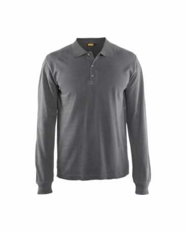 Blaklader 3388 Polo Shirt Long Sleeves (Grey)